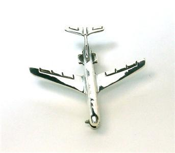 Primary image for Sterling Silver Jet Airliner Pin - New