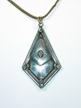Silver Kite-Shaped Exotic Pendant - $20.00