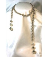 Vintage Twisted Rope-Style Lariat Wrap Necklace - $10.00