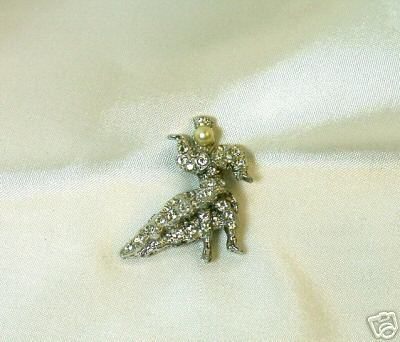Primary image for Vintage Rhinestone and Faux Pearl Tiny Dancer Pin