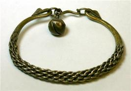 Detailed Bali Twisted Metal Bracelet with Bell - $19.00