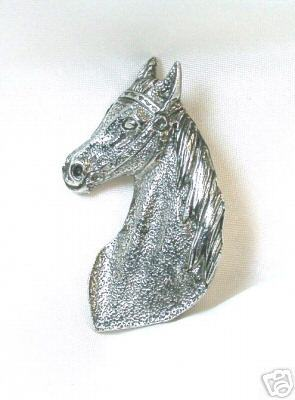 Primary image for Groovy Vintage Silvertone Horsehead Pin