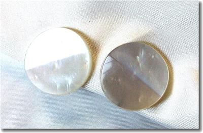 Very 1950s Pearlized Plastic Button Screwback Earrings