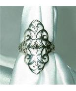 Gorgeous Sterling Silver Filagree Ring Size 6 - $15.00