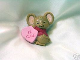 Adorable Valentine's Day Hallmark Mouse & Heart Pin - $9.00