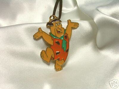 Enameled Cartoon Hanna Barbera Fred Flintstone Pendant
