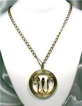 Large 'W' Medallion Pendant Necklace - $13.00