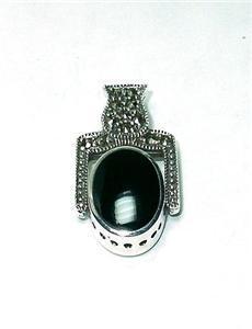 Sterling Flip Pendant-Black Onyx & Mother of Pearl