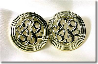 Vintage Lisner Goldtone Scrollwork Clipback Earrings