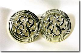 Vintage Lisner Goldtone Scrollwork Clipback Earrings - $17.00