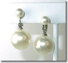 Vintage Richlieu Faux Pearl Clipback Dangle Earrings - $19.00