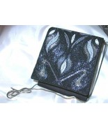 Gorgeous Vintage 1980s Disco Beaded Black Handbag - $25.00