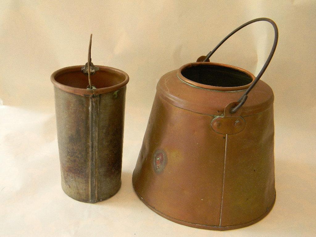 Vintage Antique Primitive Copper Pail with Insert