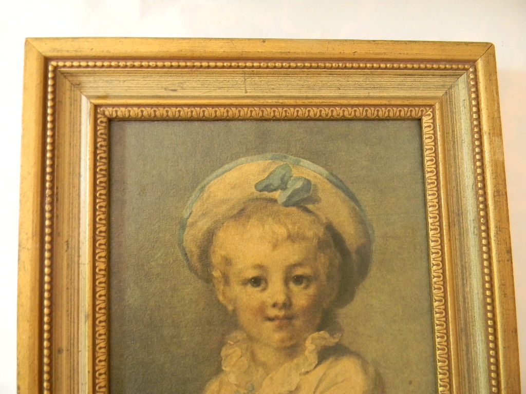 Vintage Fair Haired Child Print