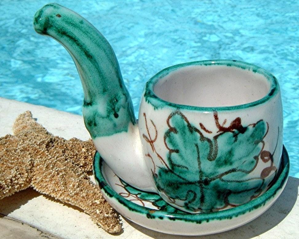 Vintage Porcelain Demitasse Cup Saucer Italian Italy Art Figural