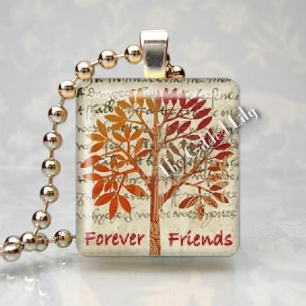 FRIENDSHIP TREE - BEST FRIENDS FOREVER Scrabble Pendant