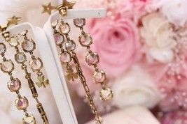 NEW AUTH Christian Dior 2019 J'ADIOR EARRINGS GOLD CRYSTAL DANGLE MULTI STRAND image 3