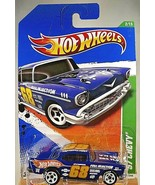 2011 Hot Wheels #52 Treasure Hunts 2/15 '57 CHEVY Dark Blue w/GDYR White... - $13.50
