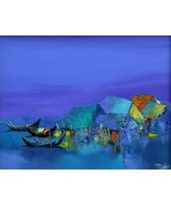 Dark Nights, a 24 x 32 commission original oil painting on canvas by Phuo - $189.00