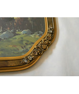 Vintage Print in Fabulous Octagon Frame - $75.00