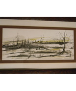 Vintage Painting / Drawing Landscape by Artist Carbone - $175.00