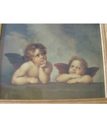 Vintage Classic Print Angels Cherubs Framed - $18.00