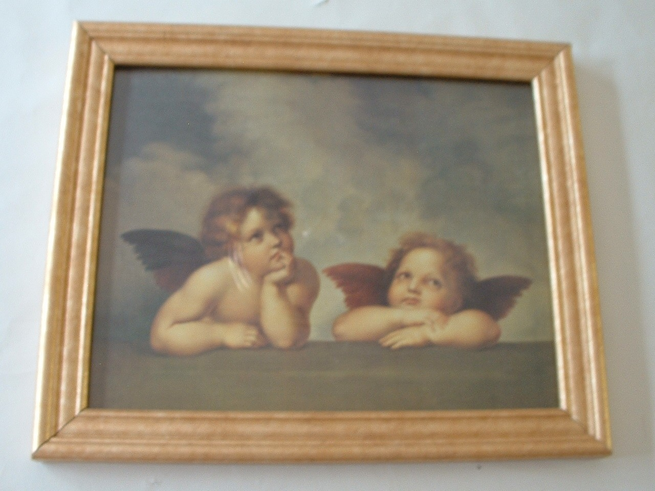 Vintage Classic Print Angels Cherubs Framed