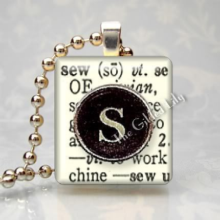 SEW - DICTIONARY WORD DEFINITION Scrabble Pendant Charm