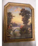 """Vintage """"The Old Fishin' Hole"""" Print In Interesting Old Frame - $38.00"""