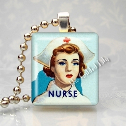 NURSE RN MEDICAL PROFESSION Scrabble Tile Pendant Charm