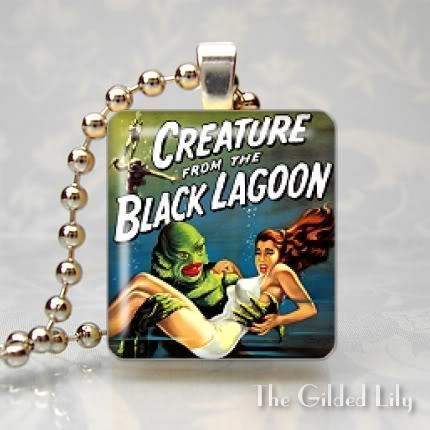 CREATURE FROM THE BLACK LAGOON Scrabble Tile Pendant