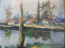 Vintage Oil on Board painting by Listed Artist Morris Katz - $495.00