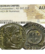 Constantine Die Groß NGC Au Selten Bewertung R1 Ric 101 Alte Roman Imper... - $287.26