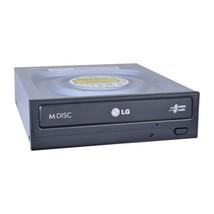 Hitachi/LG GH24NSC0 24x DVDRW DL SATA Drive w/M-DISC Support (Black) - $30.82