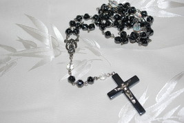 Rosary - Hemitite & Clear - $10.95