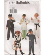 B6755 Cowgirl Mailman Cop Nurse Conductor Karate Costume Pattern 6-8 - $8.99