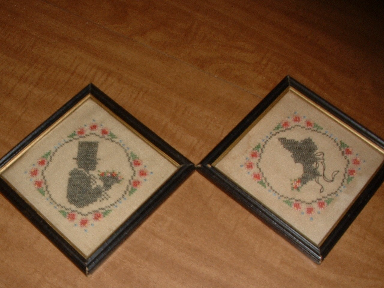Vintage Pair of Samplers