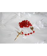 Red & Gold Rosary  - $14.95