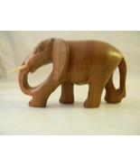 Vintage Wood Carved Elephant Carving - $48.00