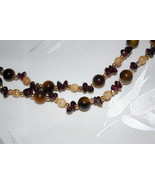 """32"""" Tumbled Stone with Chip Necklace - $9.95"""