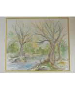 Vintage Watercolor Landscape by Artist Joan Stier - $195.00