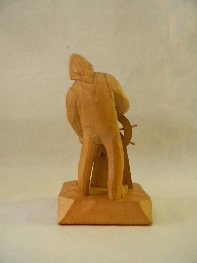 Vintage Wood Carving Sculpture by Quebec Artist Caron