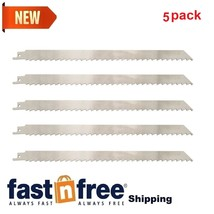 """5 Pck 12"""" Stainless Steel Reciprocating Meat Saw Blades For Food Frozen ... - $25.46"""