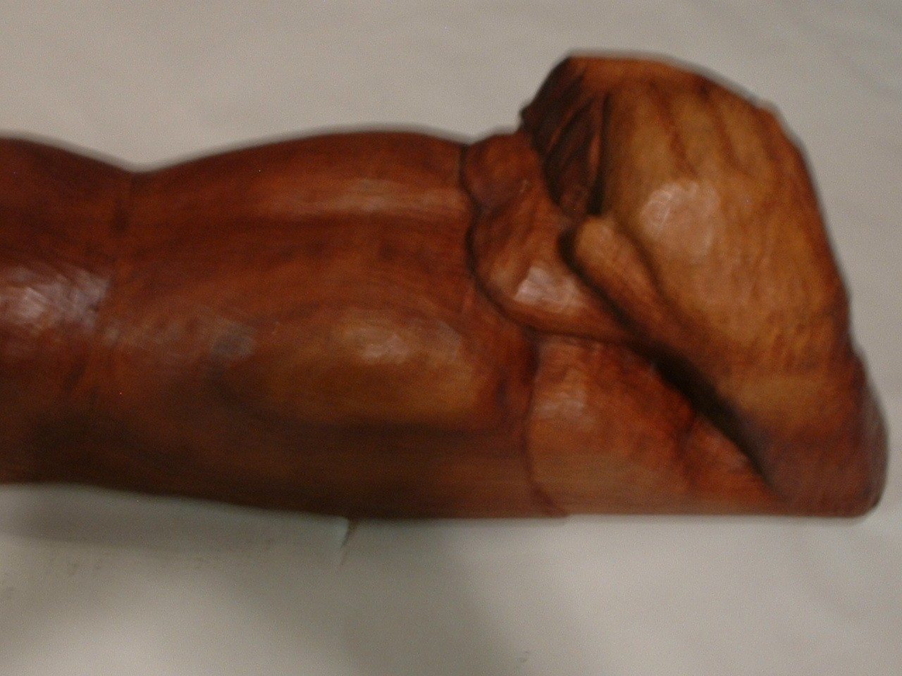 Vintage 29 Inch Long Wood Sculpture