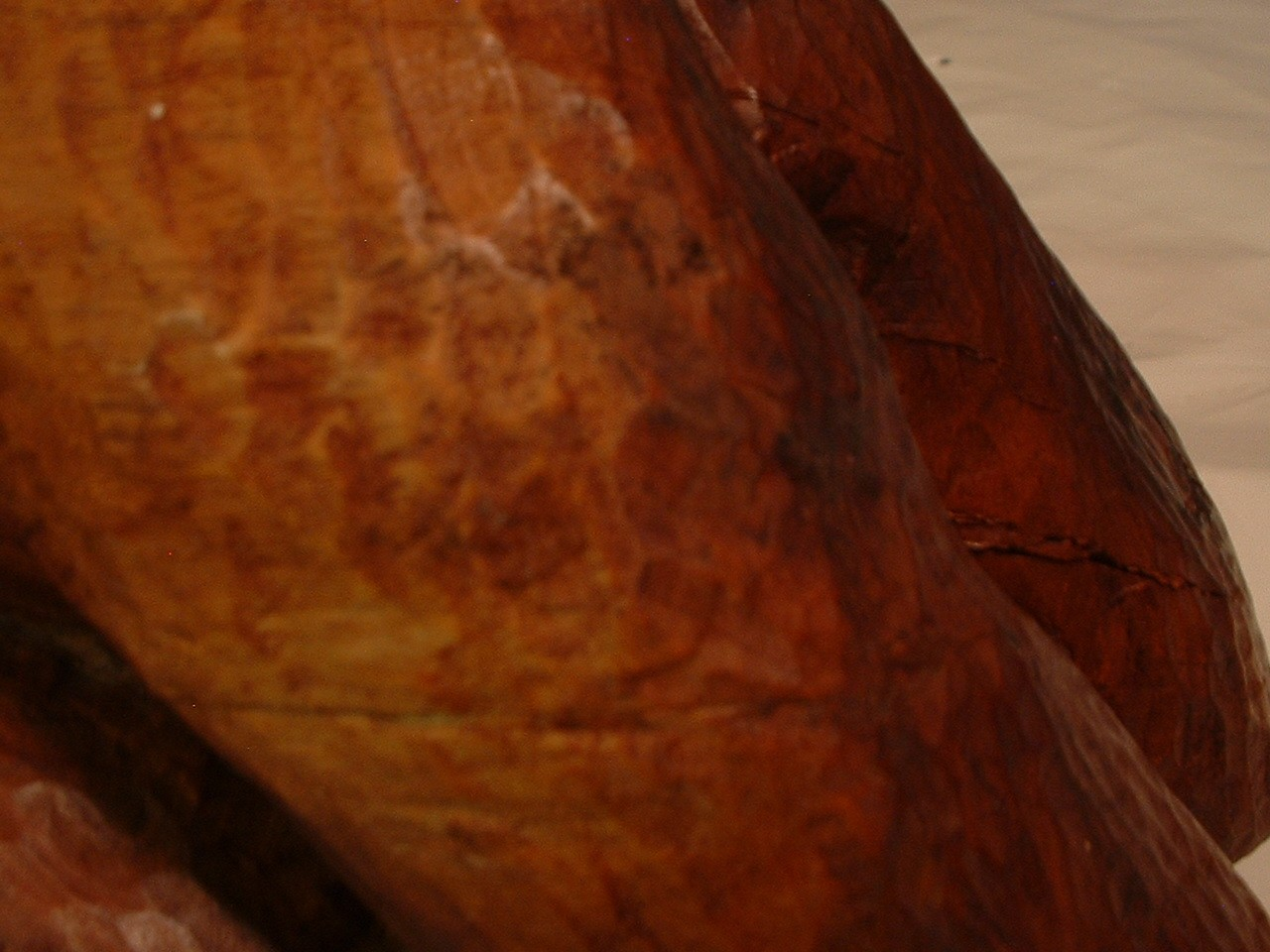 Vintage 29 Inch Long Wood Sculpture