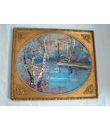 Vintage Large Oil Painting by Listed Artist Morris Katz - $495.00