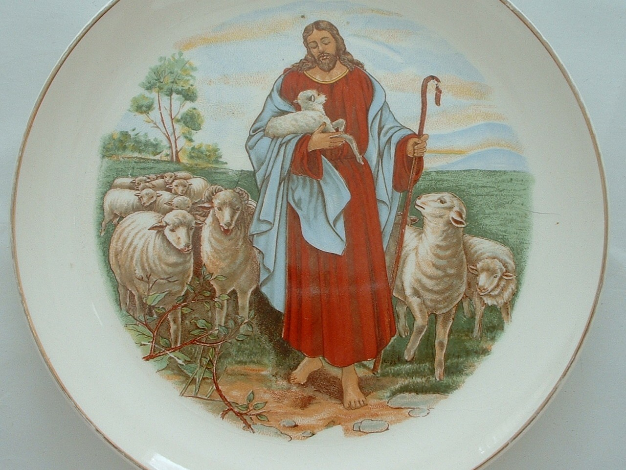 Two Porcelain Religious Plates