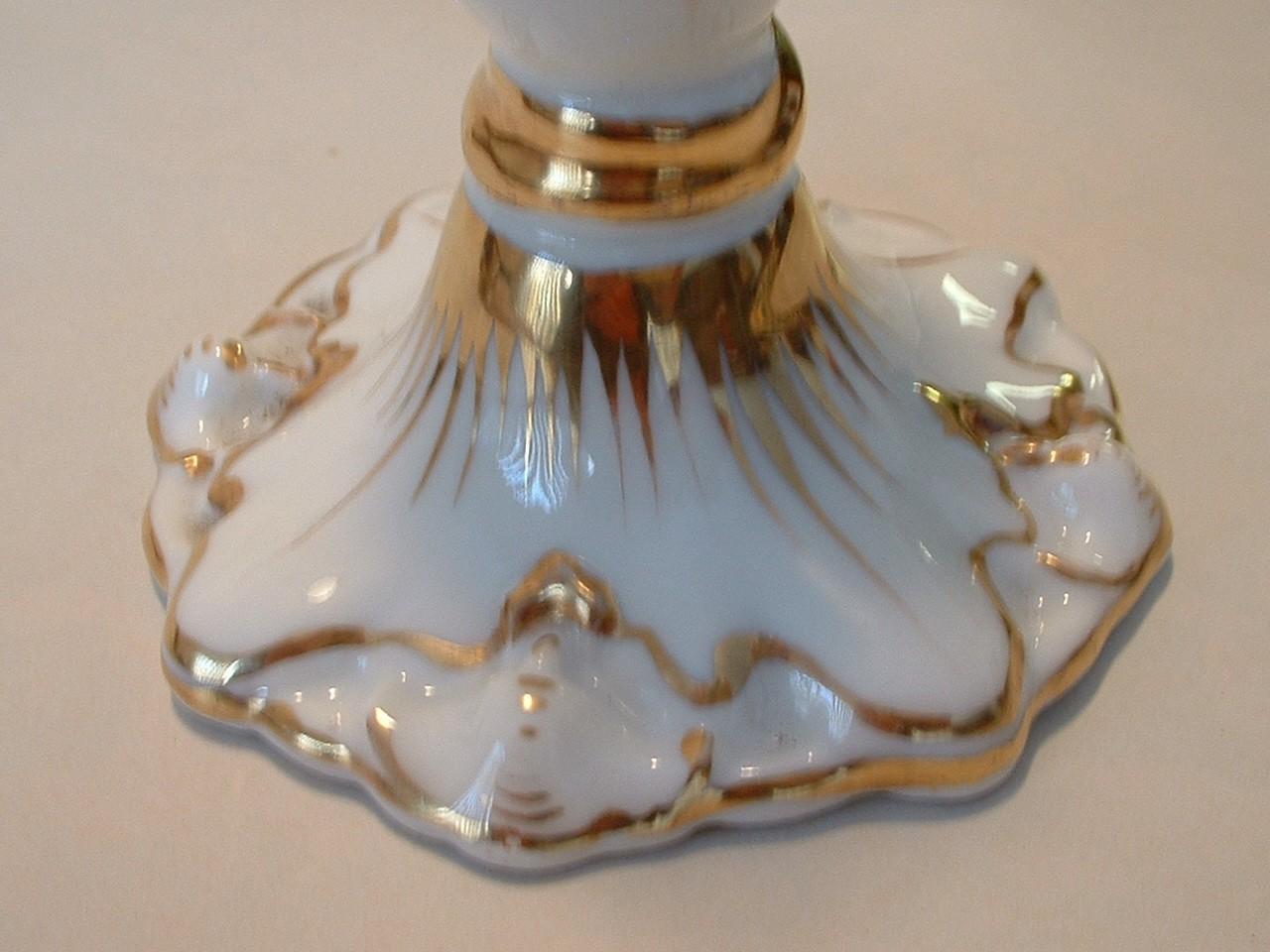 Vintage Antique Porcelain Candlestick Candle Stick