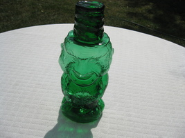 Indiana Glass Tiara Exclusives Emerald Green Jolly Mountaineer Decanter USA - $49.99