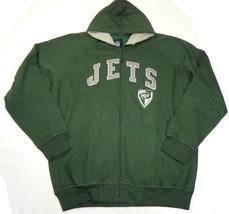 Medium New York Jets Hoodie Men's NFL Team Emblem Full Zip Sweatshirt Green